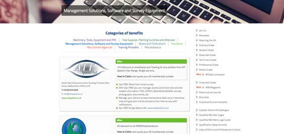 Member Benefits Discount Online Listing