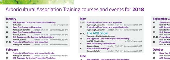 2018 Training Calendar Launched