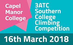 3ATC Southern College Climbing Competition: 16th March at Capel Manor College