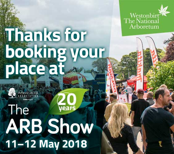 Thanks for booking your place at the ARB Show 2018