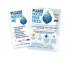 Tree Watering Campaign Posters and Tree Tags