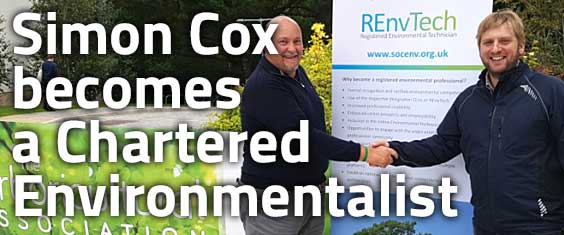 Society for the Environment welcomes latest Chartered Environmentalist