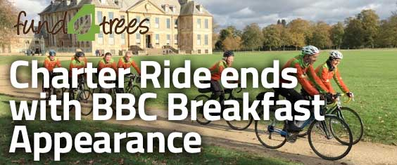 Fund4Trees Charter Ride Ends with BBC Breakfast Appearance