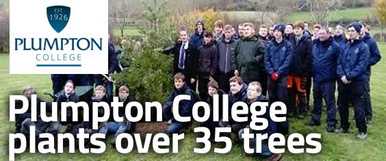 Plumpton College students plant over 35 trees