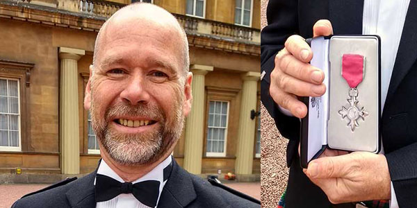 Alan Motion receives his MBE