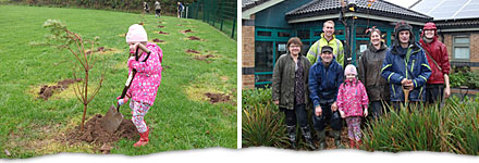 The Cornwall Branch helping plant trees during National Tree Week