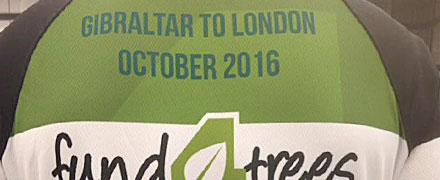 Russell Ball embarks on his epic Gibraltar to London bike ride for Fund4Trees