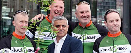 Fund4Trees gets send of from New London Mayor Sadiq Khan