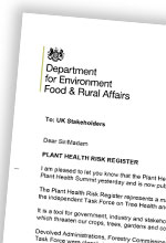 Plant Health Risk Register Launched