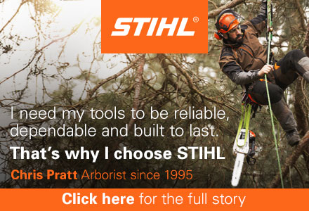 STIHL – I need my tools to be reliabe, dependable and built to last – that's why I choose STIHL – Chris Pratt, Arborist since 1995