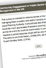 The Massaria disease of plane Survey for Community Engagement in Public Sector Urban Tree Management in the UK